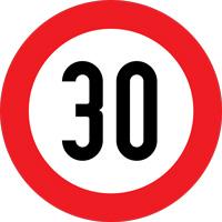 محدودیت سرعت 30