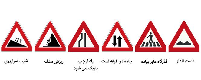 علائم راهنمایی و رانندگی اخطاری